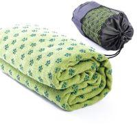 assorted mat - New Microfiber Plum shaped Skid Particles Yoga Mat Towels Color Assorted