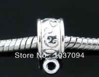 Wholesale 30 Silver Plated Flower Bail Beads Fits Charm Bracelet