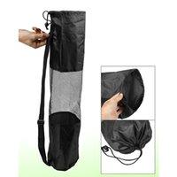 Wholesale IMC Portable Lightweight Exercise Yoga Mat Bag Carrier Mesh Center Pilates Black order lt no track