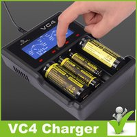 Wholesale Orignall xtar vc4 battery charger Battery Charger Intelligently Identify Charger Short Circuit xtar vc4 charger dhl shipp