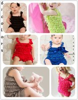 ar springs - 10 off Cute Baby Girl princess Lace Romper Ribbon Bow Jumpsuit dress dress hairband baby summer clothing AR