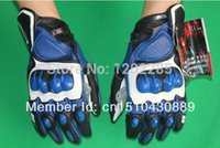 Wholesale S1 MOTO racing gloves off road Motorcycle gloves motocross motorbike protective leather glove Blue color and size M L XL