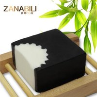 body soap - Hot Selling Natural Bamboo Charcoal Soap Face and Body Bath Soap For Acne and Removing Blackheads Contracts the Skin Pores Wedding Gift