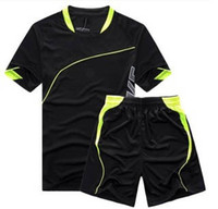 Wholesale Hot Selling New Men s Short Sleeve Plate Football Clothing Game Training Football Jerseys Male Soccer Uniform