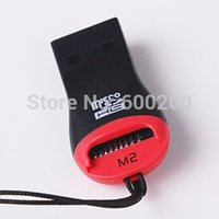 Wholesale USB MicroSD T Flash TF M2 Memory Card Reader order lt no tracking