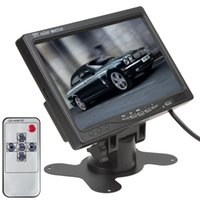Wholesale 2015 promotion Inch TFT LCD Color Video Input Car RearView Headrest Monitor DVD VCR Monitor CMO_380