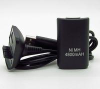 2 in1 Ni-MH 4800mAh Batterie rechargeable Kit + câble USB chargeur chargeur de sauvegarde pour Microsoft Xbox 360 Wireless Controller