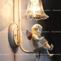 balcony post - Brief style wall decorative lighting lamp modern fashion vintage wall lamp with baby sculpture for balcony bedroom Aisle etc