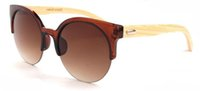 Wholesale 2015 New Design Wood Sunglasses men women Bamboo Handmade wooden polarized Cat Eye Sunglasses