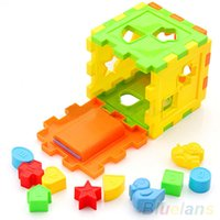 alphabet baby building blocks - Kid Educational Play Games Animal Shape Alphabet Block Cube Toddler Baby Toy VLF