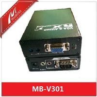 Wholesale VGA and Stereo Audio Extender up to ft with local output VGA Repeater