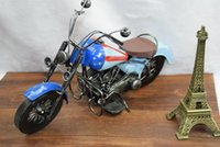 toy motorcycle - Harley Tinplate Motorcycle Model American Flag Motorcycle Toy Handcrafted Work of Art Personalizedl Creative for Gift Collecting