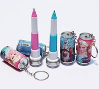 animate school - Cheap Frozen Cola pen Ice and snow princess Animated cartoon of coke Keychain