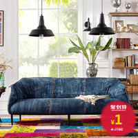 Wholesale Brand Troupe after modern vintage denim fabric living room sofa soft cloth bag
