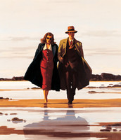 Wholesale The Road to Nowhere by Jack Vettriano oil Painting Canvas Modern Art High quality Hand painted