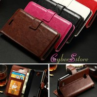 For LG TPU Brown For LG Flex 2 H959 Joy H220 Spirit H420 Crazy Horse Retro Wallet Leather case with Card Slot Photo Frame Money Pocket