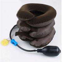 adjustable cervical collar - Hot Salw Best seller Comfortable Headache Relax Cervical Neck Traction Collar Portable Inflatable Device Adjustable size For women men