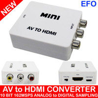 Wholesale New arrival Mini HD Video Converter Box HDMI to AV CVBS L R Video Adapter HDMI to cvbs Audio Support NTSC and PAL Output