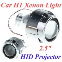 Wholesale 2 quot Mini Car Xenon H1 HID Projector Lens with Shroud for Car Headlight Xenon H1 Light