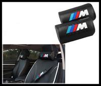 car pillow - Car Headrest BMW M Carbon Fiber Style Car Seat Neck Cushion Pillow Headrest Embroidery Head Neck Pillows pillow Cushion For M1 M3 M5