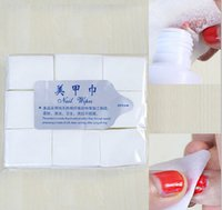 Wholesale Nail art disposable nail wipes nail polish remover clean wipes cleaning pads set bag