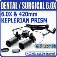 Cheap Nickel Alloy 6x 6.0x Surgical Medical Dentistry Frame Dental Loupes
