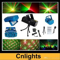 best light tripod - Best choice Mini Red Green Party Stage Laser Light lighting Projector with tripod laser DJ club disco lights mW AC85 V