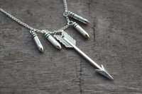 arrow bullet - 12pcs teen wolf inspired necklace arrow and bullet charm necklace jewelry silver antique jewelry