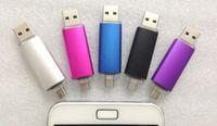 Wholesale DHL NEW Smart Cell pendrives GB GB USB U Disk Flash Drive Thumbdrie drive OTG external storage micro usb memory stick
