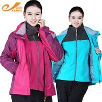 hunting clothes - Women Windbreaker Hiking Hooded Jackets Waterproof Windproof Fleece Liner Outdoor Camping Hunting Sports Clothes