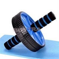 Wholesale 2014 New fashion Updated Version Exercise Equipment Wheel Brand Fitness Abdominal Wheel Ab Roller With Mat