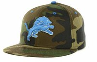 american football lions - Detroit Fitted Hat Baseball Cap Thousands Style American Football Hat For Men Lion Rugby Hat Women Sport Hats Mix Order