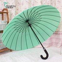 anti wind umbrella - High Quality Bone Long Handle Umbrella Sunshade Straight Rod Large Anti Wind Double People Umbrella Man Umbrella