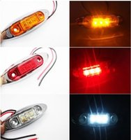 Wholesale 12pcs LED AMBER RED WHITE Waterproof Side Marker Lights Clearance Lamp Trailer