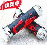 Wholesale Universal Moto Motorcycle Chopper Handlebar Grips flame Hand Grips Rubber mm