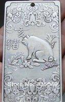 Wholesale Old tibetan silver tibet Nepal statue amulet Chinese zodiac mice thangka tibet Silver thanka creative gift