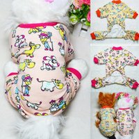 Wholesale Best Price New Pet Clothes Small Dog Soft Cotton Pajamas Jumpsuits Apparel Animal Printed Jumpsuit