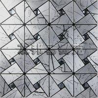 aluminum facade panels - AIA metal gray aluminum panels mosaic triangular wood Black Diamond Self adhesive backdrop facade New Promotions