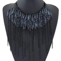 Chokers big choker - Fashion Europen and US Choker Statement Bib Necklaces Women Jewelry Chain Tassel Necklaces Pendants Maxi Colar Big Necklace