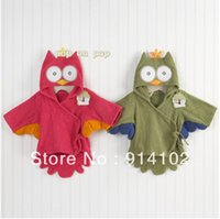 baby aspen - Baby Aspen My Little Night Owl Hooded Terry Spa Robe Baby hooded bathrobe color