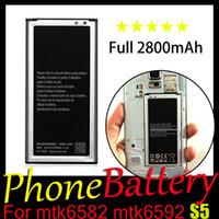 Wholesale UPS Free S5 Phone Battery Capacity mAh Battery Quality Guarantee Year Warranty For MTK6582 MTK6592 Original S5 I9600