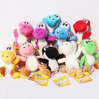 Wholesale Super Mario Bros Yoshi Plush Anime Soft Plush toy quot colors Keychain