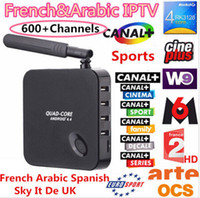 Wholesale Quad Core Android TV Box Arabic French IPTV Account IproTV Free watching Live Sports TV Movies channels Wifi case