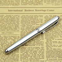 Wholesale Silver Fountain Pen Medium KGP Stainless Steel Nib Trim Ink Pen