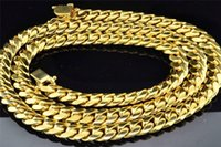 Wholesale 10K Mens Yellow Gold Solid Heavy Miami Cuban Link Chain mm Grams inch