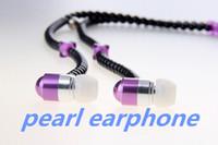 beautiful headphone - 2015 diamond pearl chain mm earphones with microphone diamond in ear headphones headsets beautiful gift for mp3 mp4 player LJ