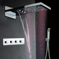 Wholesale bathroom led shower sets mm concealed wall mount shower mixers
