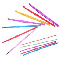 Wholesale 12pcs Aluminum Crochet Oxide Hooks Needles Knit Weave Stitches Knitting