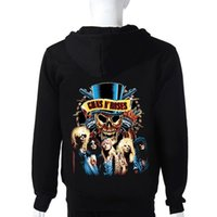 Wholesale Rock Band Guns N Roses Sweatshirt hoodies cotton winter Men designer hoodies Famous Rock Band printing cotton men tie dye hoodie
