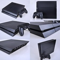for PS4 PS4/black  BLACK CARBON FIBRE DECAL SKIN PROTECTIVE STICKER for SONY PS4 CONSOLE CONTROLLE